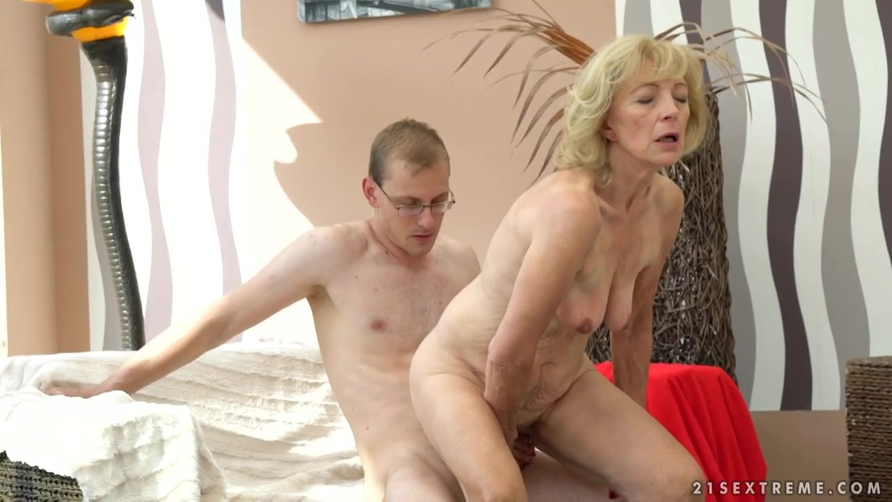 21sextreme horny granny rides young studs throbbing cock 3